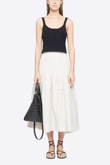 Cotton LCP Skirt in Light Grey
